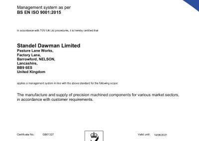 Certificate 180530 9001-15